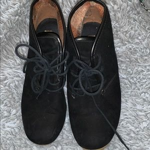 Black booties/shoes women's sz 10